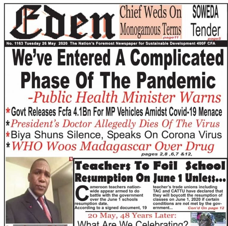 Cameroon: Impact of Cultural Factors on Progression of Pandemic