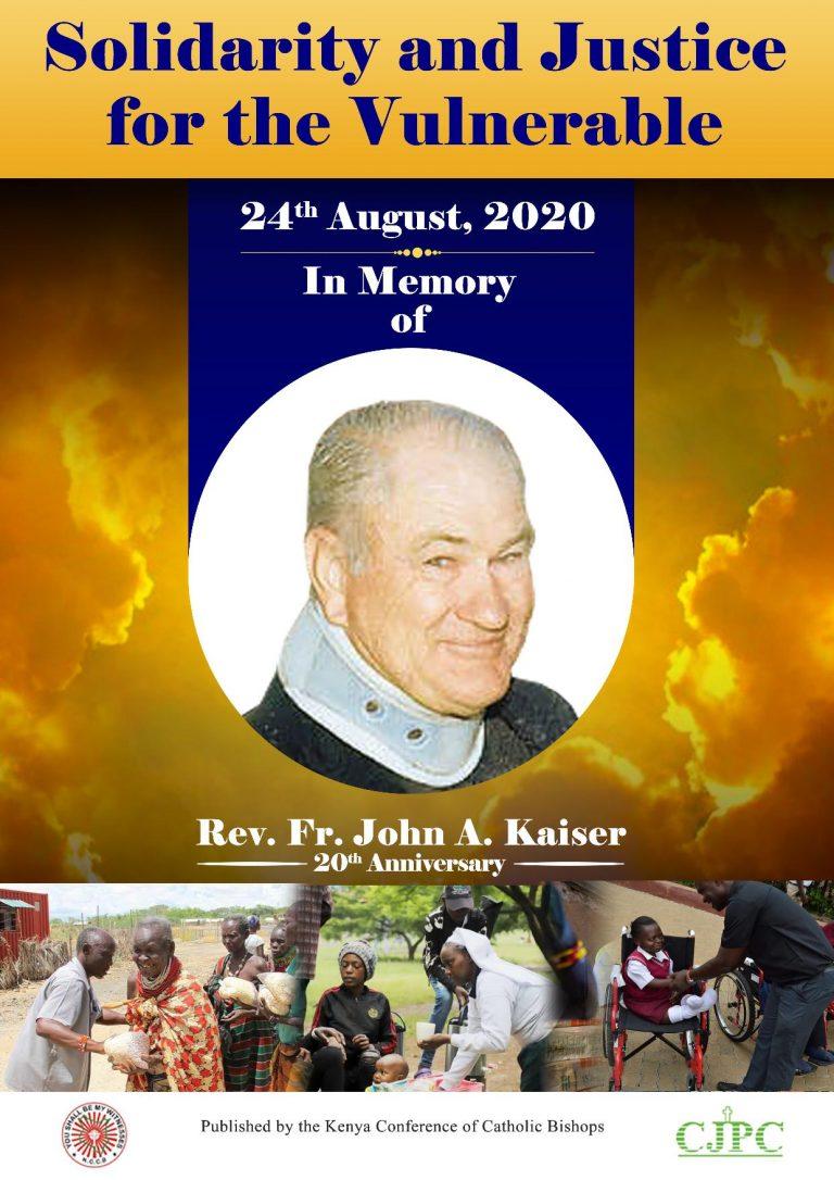 Kenya: 20th John Kaiser MHM Anniversary