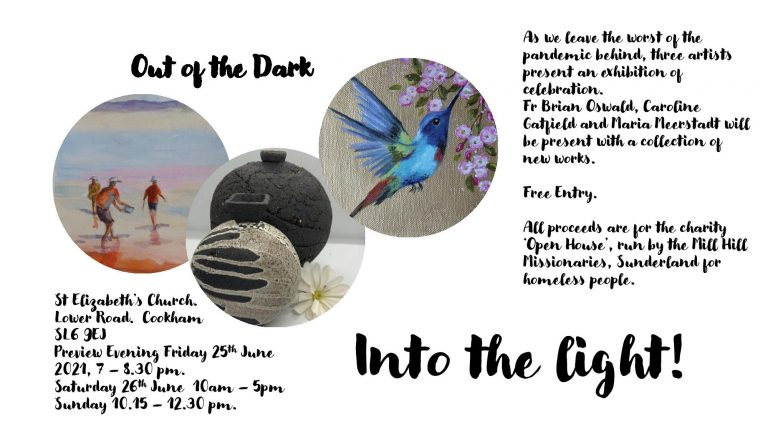 Artist Fr Brian Oswald MHM in Forthcoming Joint Exhibition: 'Out of the Dark into the Light'